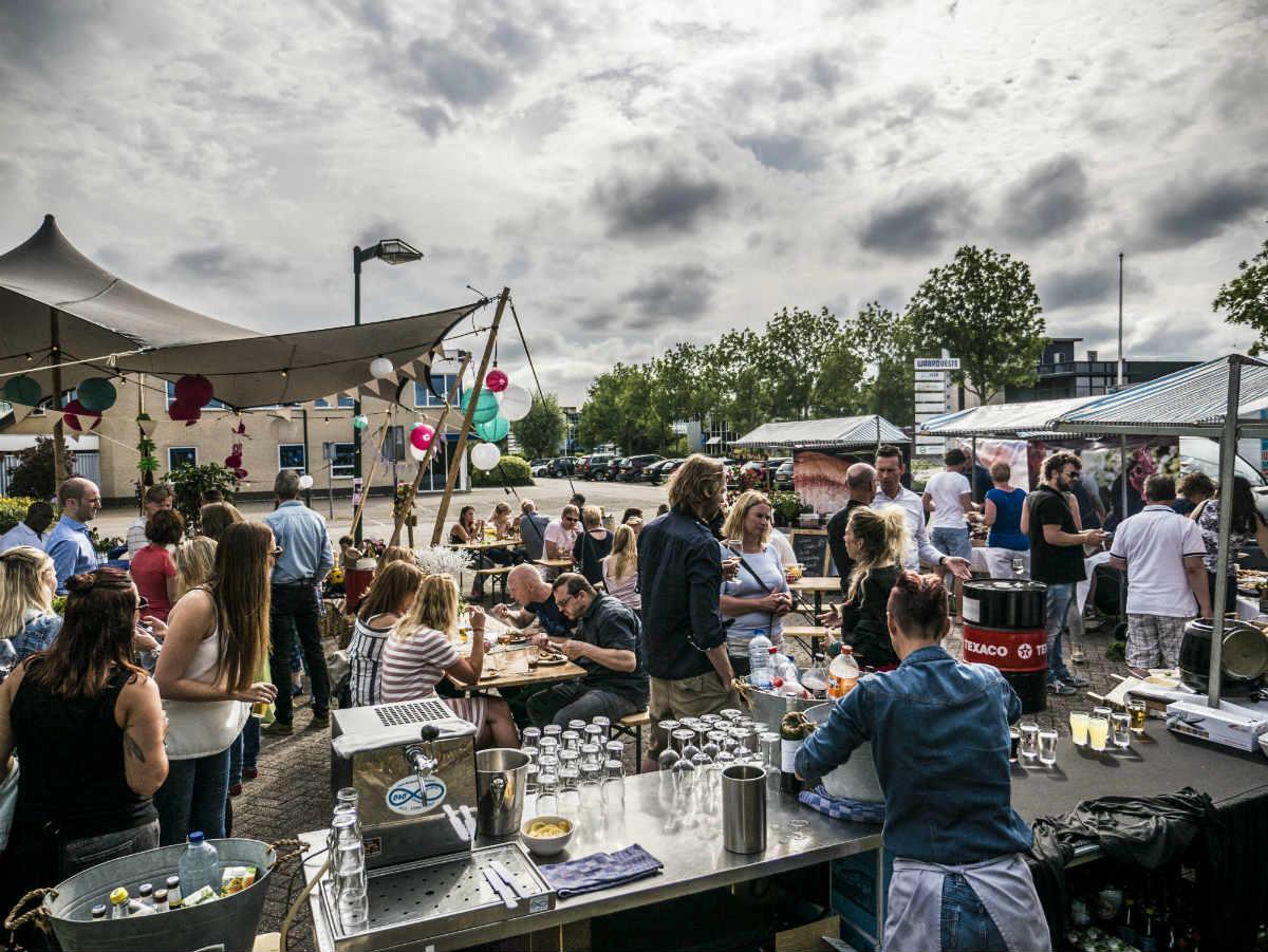 Foodtruckfestival op het bedrijf